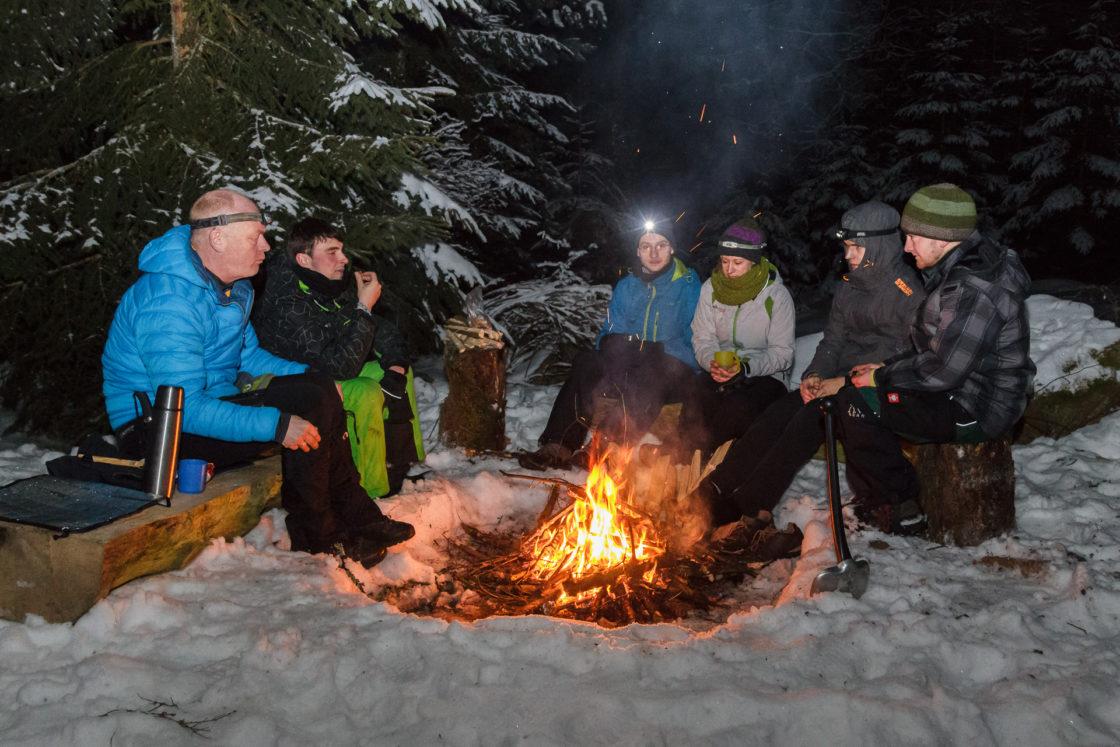 Der Abend am Lagerfeuer