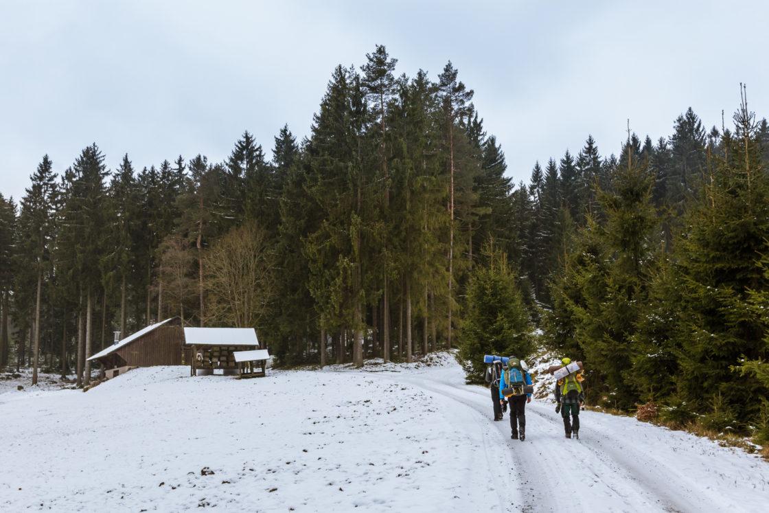 Sieben Rangers auf dem Weg zum Rudolfstein